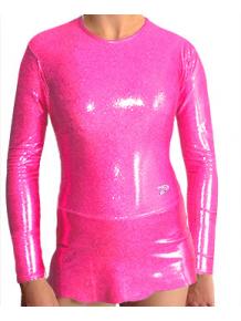 Dres na moderní gymnastiku - trikot M900 reflexní růžová