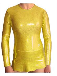 Dres na moderní gymnastiku - trikot M900 zlatá