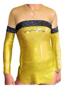 Dres na moderní gymnastiku - trikot M902 zlatá