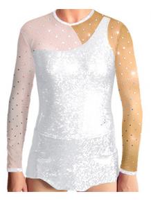 Dres na moderní gymnastiku - trikot M905 bílá