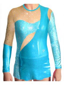 Dres na moderní gymnastiku - trikot M908 tyrkysová