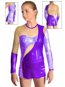 Dres na moderní gymnastiku - trikot M908 fialová