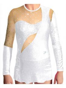 Dres na moderní gymnastiku - trikot M908 bílá
