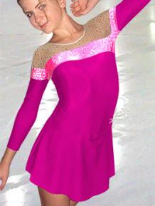 Krasobruslařské šaty - trikot K737 růžová