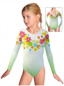 Gymnastický dres závodní D37d_t104 světle zelená
