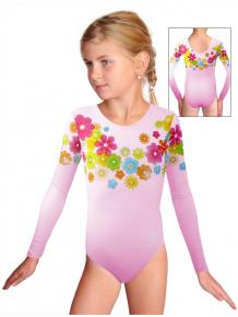 Gymnastický dres závodní D37d_t104 světle růžová