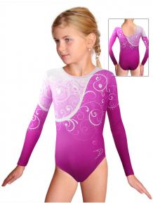 Gymnastický dres závodní D37d-58_t101 růžová