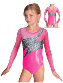 Gymnastický dres závodní D37d-2 růžová