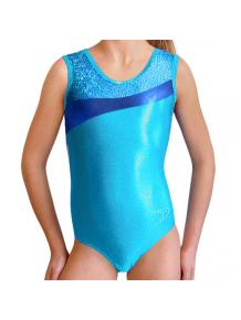 Gymnastický dres závodní D37r-3 tyrkysová