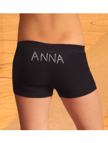 Sportovní legíny krátké bokové nápis ANNA