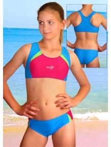 Dívčí sportovní plavky dvoudílné PD280fx