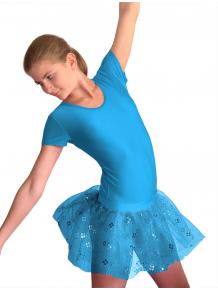 Baletní sukně tylová D800x tyrkysová