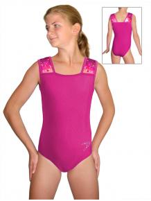 Gymnastický dres závodní D37r-47 t306 s růžovou