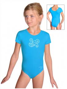 Gymnastický dres S37kk_f6 tyrkysová
