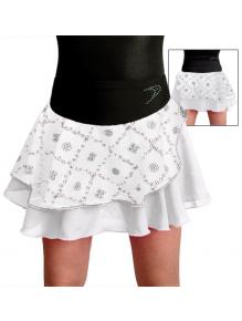 Taneční sukně K806b bílo černá