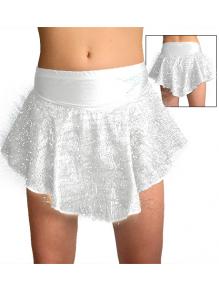 Taneční sukně K802strb stříbrná