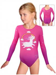 Gymnastický dres závodní D37d_t106 růžová