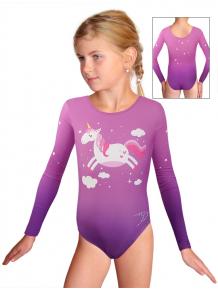 Gymnastický dres závodní D37d_t107 fialová