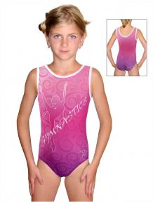 Gymnastický dres závodní D37r-58_t204 růžová