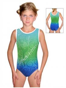 Gymnastický dres závodní D37r-58_t205 modrozelená