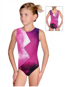 Gymnastický dres závodní D37r-52_t208 růžová