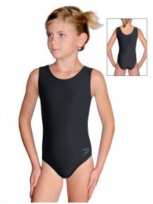 Gymnastický dres závodní D37rxM_08 černá