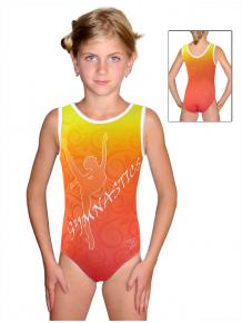 Gymnastický dres závodní D37r-58_t206 oranžovožlutá
