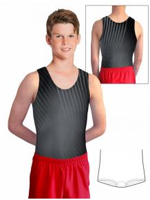 Gymnastický dres chlapecký D37chn_t402 černo šedá