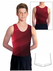 Gymnastický dres chlapecký D37chn_t403 červená