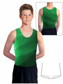 Gymnastický dres chlapecký D37chn_t403 zelená