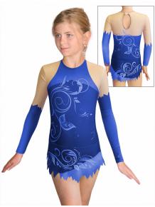 Dres na moderní gymnastiku - trikot M916 t502 modrá