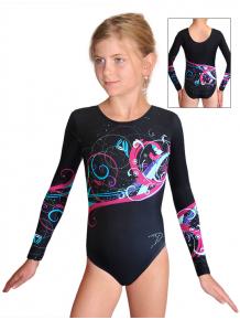 Gymnastický dres závodní D37d_t112rt černá
