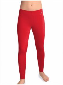 Sportovní legíny dlouhé T36dfl fleece červená