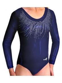 Gymnastický dres závodní D37dsl_F301 tmavě modrá