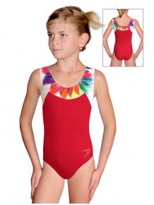 Gymnastický dres závodní D37r-s t201 červená