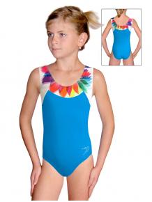 Gymnastický dres závodní D37r-s t201 tyrkysová