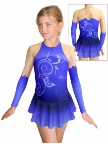 Krasobruslařské šaty - trikot K739 t502 modrá