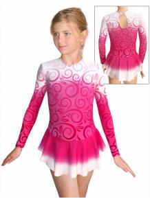 Krasobruslařské šaty - trikot K739 t600 růžová