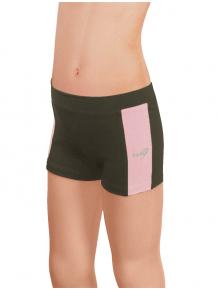Sportovní legíny krátké B36k-dvx khaki se světle růžovou