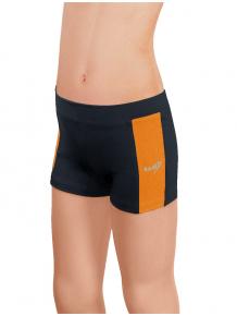 Sportovní legíny krátké B36k-dvx černá s oranžovou