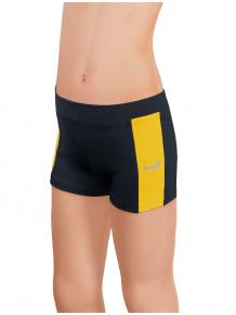 Sportovní legíny krátké B36k-dvx černá se žlutou