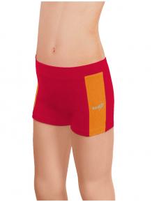 Sportovní legíny krátké B36k-dvx červená s oranžovou