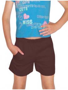 Sportovní šortky s kapsami V36sx hnědá