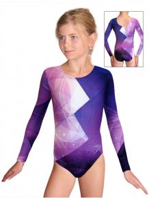 Gymnastický dres závodní D37d-52_t208 fialová