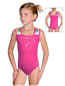 Gymnastický dres závodní D37r-47 t201 s růžovou
