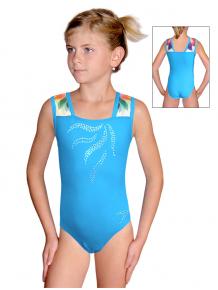 Gymnastický dres závodní D37r-47 t201 s tyrkysovou