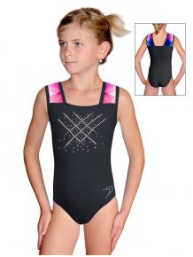 Gymnastický dres závodní D37r-47 t105 s černou