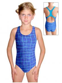 Dívčí sportovní plavky jednodílné PD623 v249
