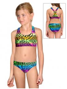 Dívčí sportovní plavky dvoudílné PD658 v446