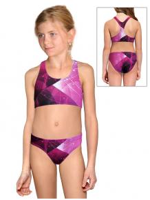 Dívčí sportovní plavky dvoudílné PD661 t208 růžová